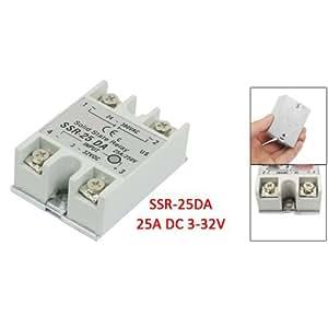 SODIAL(R) Relais Statique 25A SSR-25DA Controle de la temperature AC Sortie de 24V-380V