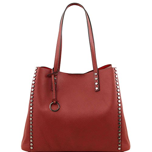 Tuscany Leather - TL Bag - Sac shopping en cuir souple - Rouge