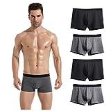 Lantch Herren Unterwäsche Basic Boxershorts Baumwolle Unterhosen Herren Retroshorts 2/4 Pack