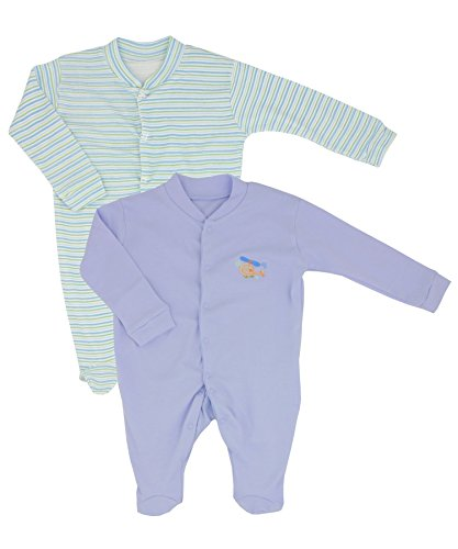 70 Twin Pack (Nursery Time Twin Pack Baby Boys Sleepsuits - 6 - 9 Months / 68-74 cm / 9 kg)