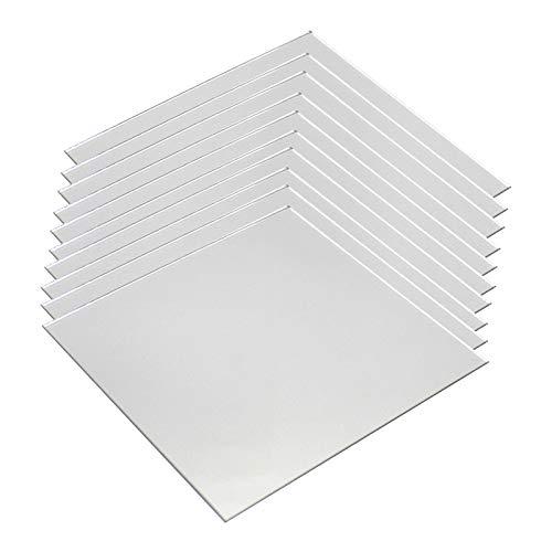 SOFIALXC Acryl-kunststoffplatte Gespiegelte Uv-Schutz Kunststoffrohstoffe Dicke 2mm-150X200 mm 8 Pieces