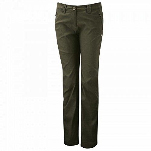 Craghoppers Damen Kiwi Smart-Dry Hose mit Stretchanteil (44 x Kurz) (Khaki) (Frauen 40 Ab Casual Shorts)