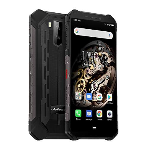 Ulefone Armor X5 (2019) 4G Outdoor Handy NFC (5,5 Zoll Display, 3GB + 32GB, Android 9.0, 5000mAh Akku, IP68 Smartphone wasserdicht stoßfest staubdicht, Dual SIM 4G LTE, Kompass, OTG) Schwarz