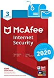 McAfee Internet Security 2019 - Antivirus, PC/Mac/Android/Smartphones, 3 Dispositivos, Suscripción de 1 año...