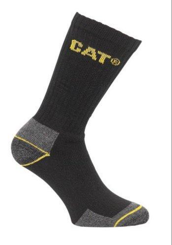 Caterpillar Cat 3 Pair Pack Mens Work Socks (11-14, Black)