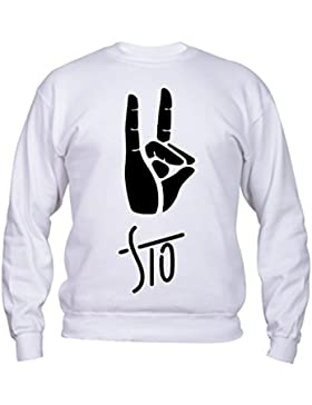 Ghali Logo Sto - Felpa Rap Italiano, Uomo Donna