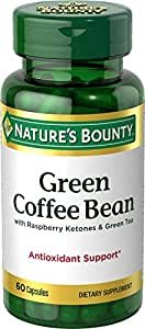 Nature's Bounty Green Coffee Bean with Raspberry Ketones and Green Tea - 60 Tablets