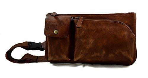 Monedero de cuero bolso del monedero de piel marrón bolso vintage bolsita hombre mujer de piel bolso bolso cuero bolsillo de piel lavada