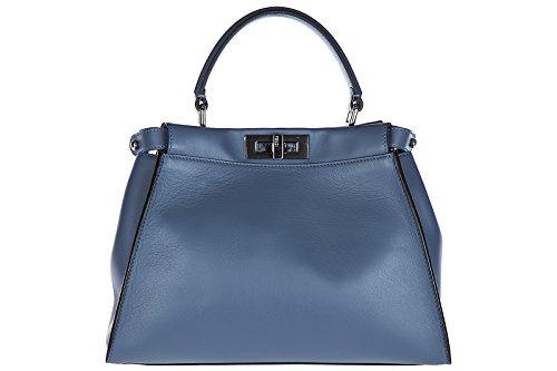 6385a2929057 Fendi Leder Handtasche Damen Tasche Bag peekaboo regular blu