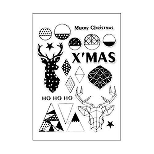 MJiang Frohe Weihnachten DIY Silikon Klar Stempel Siegel Sammelalbum Prägung Fotoalbum Dekor Papier Karte Handwerk Kunst Handgemachtes Geschenk