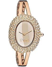 D&G Dolce&Gabbana Damen-Armbanduhr MUSIC LDY IPR STONES ROSE DIAL BRC DW0278