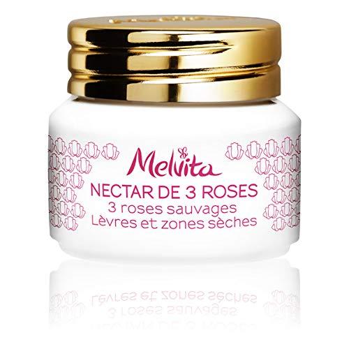Melvita - Nektar 3 Roses Lippen und trockene Gebiete 8G 8G - Lot von 3 - Preis pro Los - Schnelle Lieferung