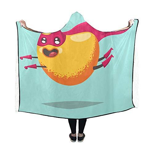 Niedliche Cartoon Charakter Kostüm - JOCHUAN Hooded Blanket Niedliche Mango-Zeichentrickfigur exotische