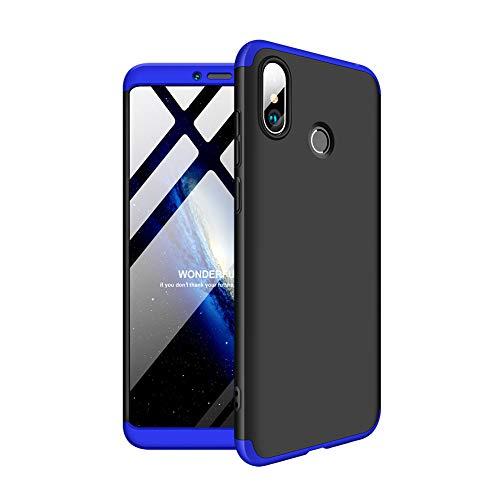 Aidinar Xiaomi meu MAX 3 funda, Para-xocs i resistent a les ratllades, Estoig Rígid de 360 Graus Estoig complet per Xiaomi meu MAX 3 (negre + blau)