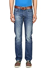 Peter England Mens Slim Fit Jeans (8907306849581_JDN51506939_86/34W x 34L_Medium Blue with Blue)