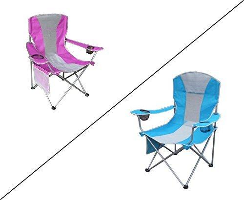 Schöner Campingstuhl in zwei Varianten (Blau)