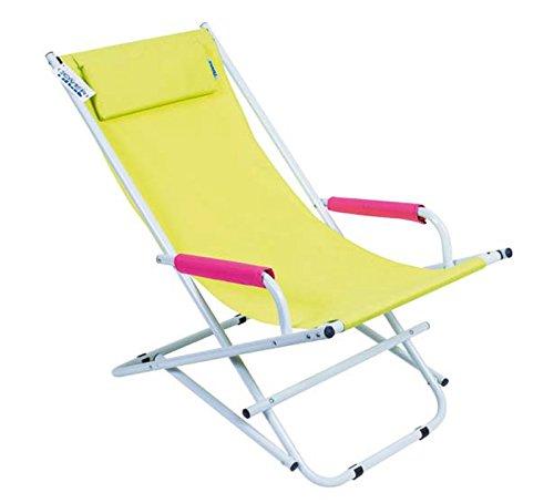 Sdraio spiaggina dondolina sedia lettino prendisole da giardino mare spiaggia piscina gialla enrico coveri 960048