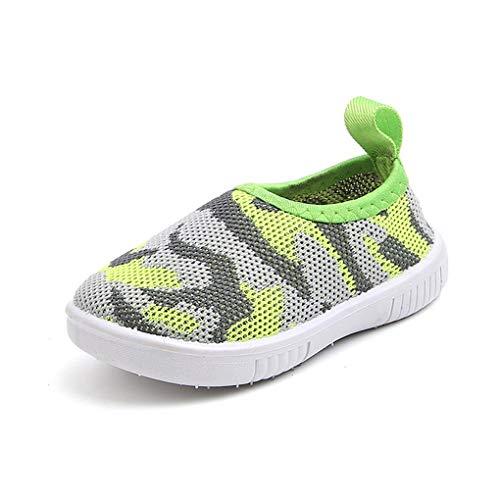 Mesh Schuhe für Kinder Jungen Mädchen/Dorical Unisex Graffiti Sandalen Lauflernschuhe Outdoorsandalen Sommer Strand Wasserschuhe Geschlossene Atmungsaktiv Krabbelschuhe Badeschuhe(Grün,19 EU)