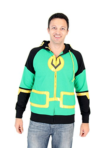 Marvel Kid Loki Symbol Erwachsene Zip Up Kostüm Hoodie (XX-Large)