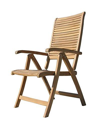 Grasekamp Teak Sessel verstellbar Gartenstühle Klappstuhl Teak Holz Gartenmöbel