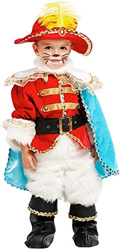 Gatto Piccolo (Carnevale Venizano CAV53222-3 - Kleinkindkostüm Piccolo Gatto Con GLI Stivali LUSSO - Alter: 0-3 Jahre - Größe: 3)