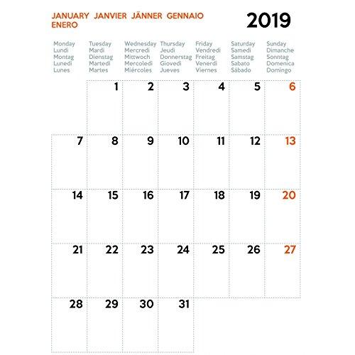 Uttscheid Planning, Kalender, 2019, Spiralbindung, Wand, Familien- oder Büro, A4-30x21 cm