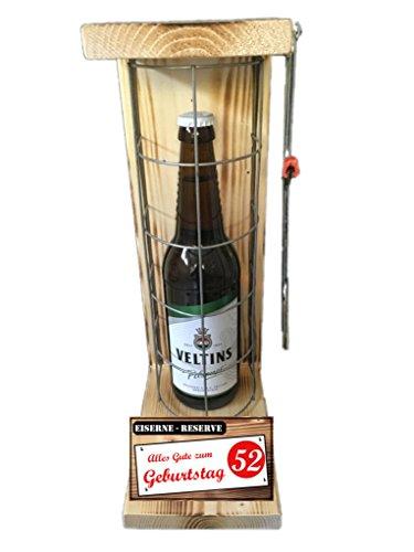 Alles Gute zum 52 Geburtstag - Die Eiserne Reserve Veltins Pilsener 0,50L incl. Säge - Das ausgefallenes witziges originelles lustiges Geschenk zum 52. Geburtstag Die Geschenkidee für Mann & Frau