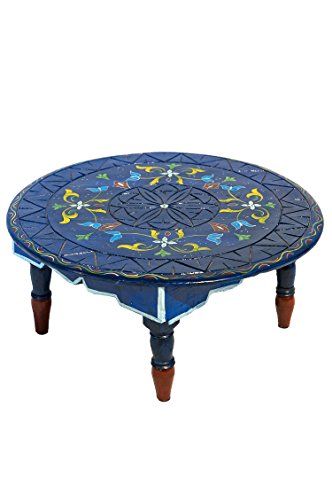 Orient Berber ShishaTisch Meknes Blau - Niedriger Tisch