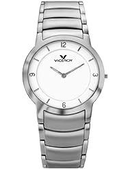 Viceroy - Reloj de caballero de cuarzo, correa de acero inoxidable color plata