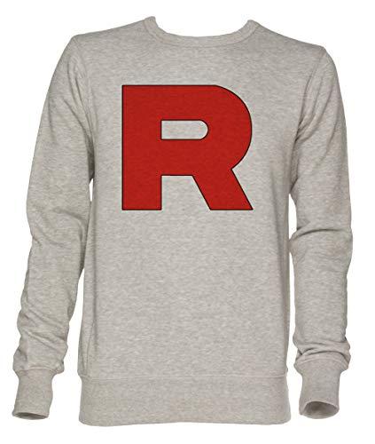 Team Rocket Unisex Grau Jumper Sweatshirt Herren Damen Größe XXL | Unisex Jumper Sweatshirt for Men and Women Size XXL