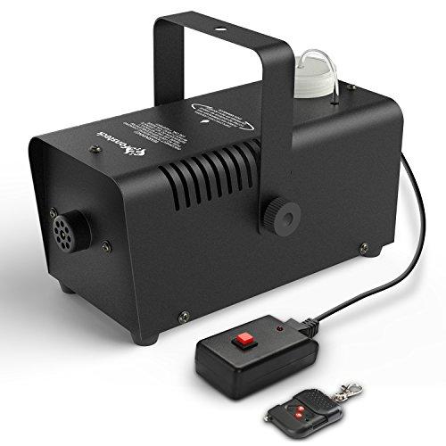 Mini Nebelmaschine, Fansteck 400W Nebelmaschine mit Wireless Fernbedienung, 3 Min. Aufwärmzeit, 2000 CFM, für Feiertage, Parties, Hochzeiten, Schnelle Generierung von Nebel, mit Stromsicherungschutz