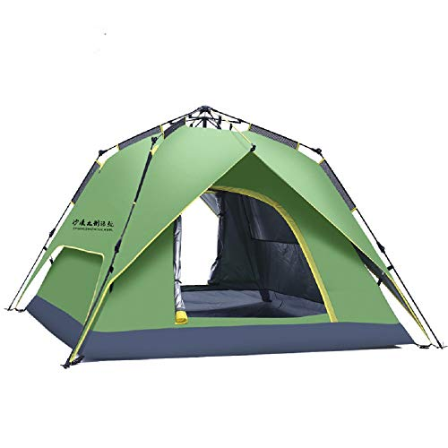 shuntian Épaissir Costume Tente de Chameau de Bateau en Plein air 2 Tente de Camping Protection Solaire Automatique, Double Punch Trois Tente hydraulique Vert Militaire, Double