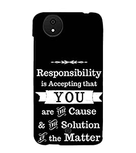 Fuson Designer Back Case Cover for Micromax Canvas Android A1 AQ4501 :: Micromax Canvas Android A1 (Responsibility Is Accepting Theme)