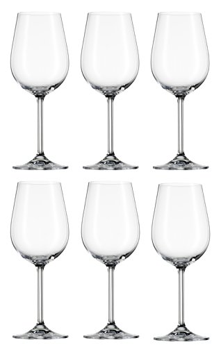 Bohemia Cristal 093 006 111 Rotweinkelche ca. 420 ml aus Kristallglas 6er Set Clara