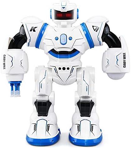 DUCKTOYS Robot Robot Robot RC, Programmation Intelligente LanceHommes t Canon Laser contrôle des gestes Bataille Danse LED Robot Yeux dynamiques,  s Jouets Cadeaux de Noël, Deux Couleurs 556fb2