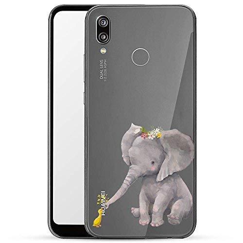 Finoo Hülle für Huawei P20 Lite - Handyhülle mit Motiv und Optimalen Schutz Tasche Case Hardcase Cover Schutzhülle - Elefant und Ente