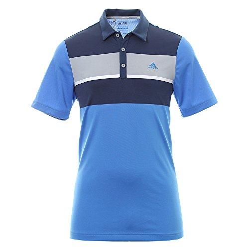 Adidas Climacool Chest Block maglietta Polo a maniche corte da Golf, Uomo, UOMO, Climacool Chest Block, blu, L