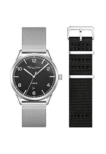 THOMAS SABO Unisex Code TS Uhr und Armband Edelstahl Milanaisearmband LOOK19_02_010
