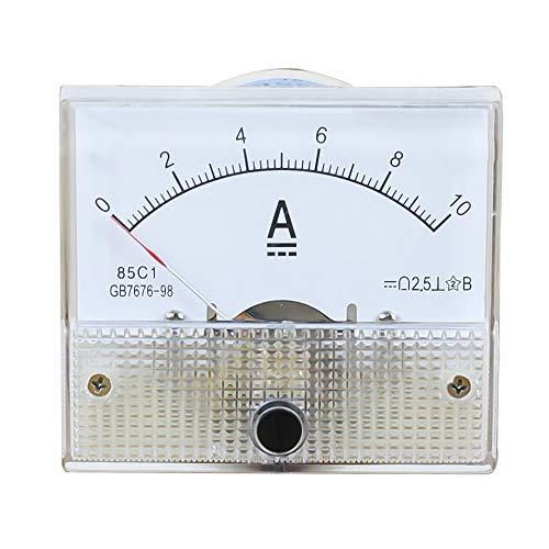 85C1 DC Kunststoff Analog Zeiger Amperemeter Ampere Meter Amp Panel 1A 2A 3A 5A 10A 20A 50A 100A Mechanischer Strommesser 1 Stücke 64 * 56mm