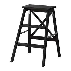 IKEA BEKVÄM - Escabeau, 3 étapes, noir - 63 cm