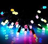 ODJOY-FAN 5.3M Wasserdicht LED Weihnachten Zeichenfolge Licht LED Foto Clip Licht Zeichenfolge Weihnachten Hochzeit Festival Dekorativ Licht Beleuchtung String Light (Multicolor,1 PC)