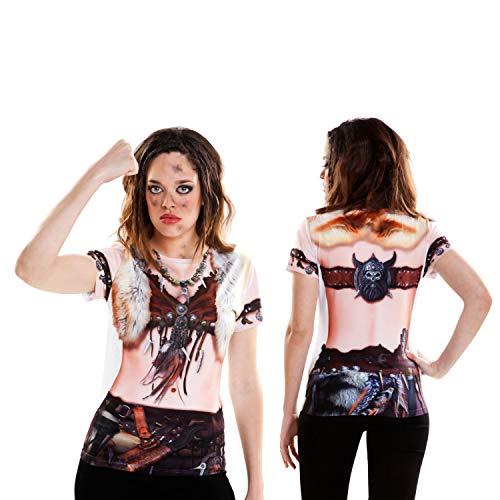 viving Kostüme viving costumes231112Viking Girl Short Sleeve T-Shirt - Viking Mädchen Kostüm