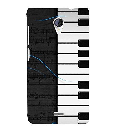 Fiobs Designer Back Case Cover for Micromax Unite 2 A106 :: Micromax A106 Unite 2 (Piano Keys Keyboard Casio Black White)  available at amazon for Rs.342