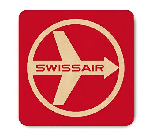 LOGOSHIRT - Swissair Dessous de verre - Airline Sous-verre - Aviation - rouge - Design original sous licence