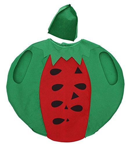 Wassermelone Kostüm Kleinkind - Eozy Unisex Kinder Kürbis Kostüm Kleinkind Halloween Fasching Obst Kostüm mit Hut Wassermelone