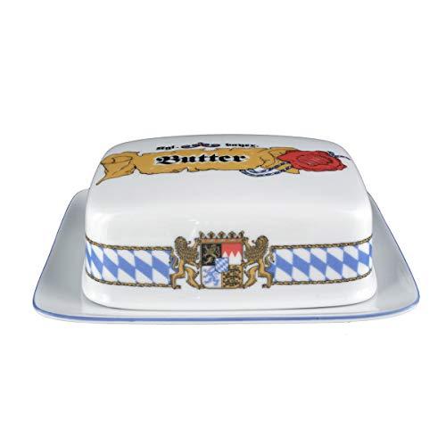 Seltmann Weiden 001.458154 Compact Bayern Butterdose 250 g, Blau/Weiß/Gelb/Rot - Compact Butterdose