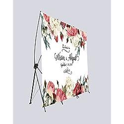 Photocall flexible 100% personalizado - Decorazión Flores boda 160x200
