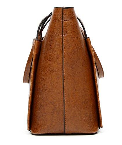 Tibes Large Capacity Umhängetasche Damen Geldbörsen und Handtaschen Schwarz