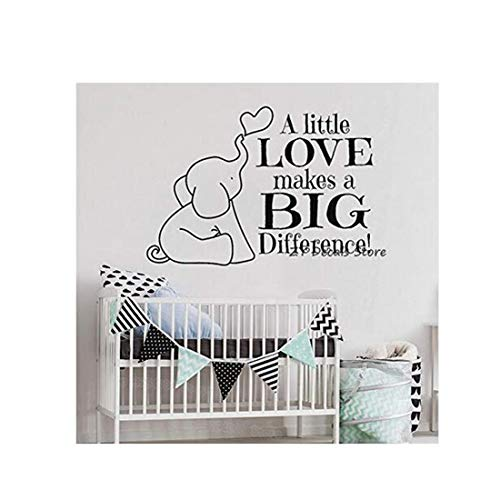 Dekorative Landschaft Family Art Self-Adhesive Elefant - Wand - Aufkleber Baby - Kindergarten Bibel Vinyl Wandaufkleber Kinder Schlafzimmer 56X42Cm