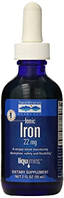 Trace Minerals Research, Ionic Iron Drops, 22 mg, 2 fl oz (59 ml) by Trace Minerals Research